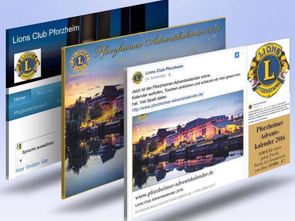 Interaktiver Adventskalender für Lions Club Pforzheim