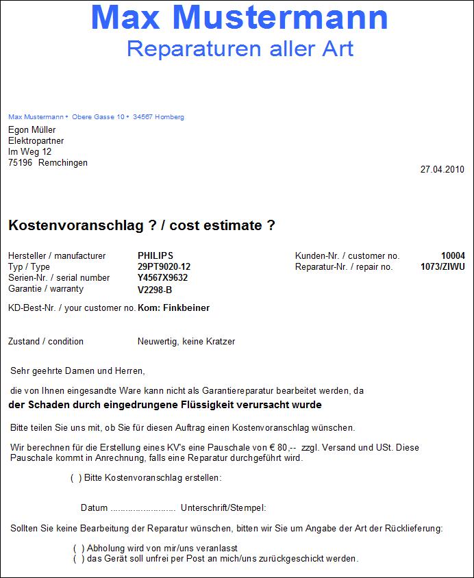 Win Rep Reparaturverwaltung Fur Werkstatten Ziwu Soft Edv Systeme Gmbh