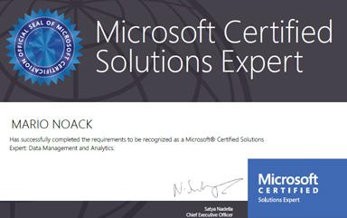Wir gratulieren zur MCSE Zertifizierung